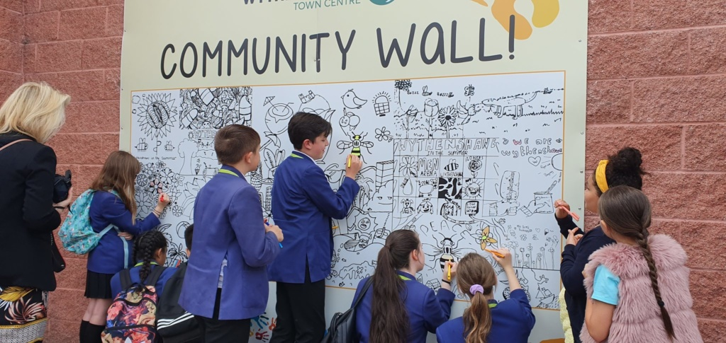 Wythenshawe's Community Colouring Wall comes to life