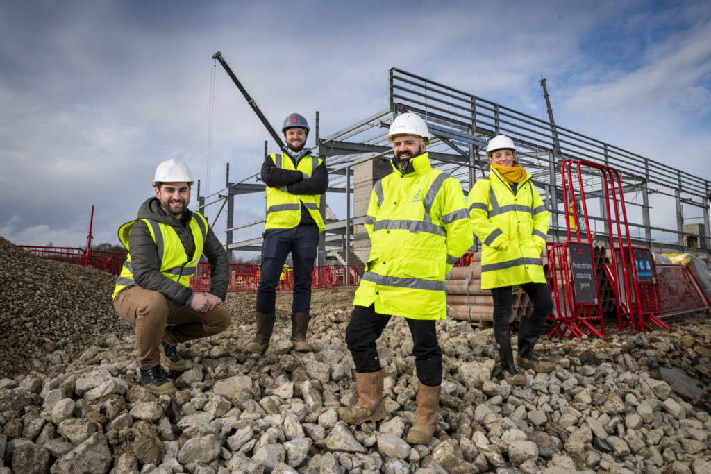 Steelworks up at St. Modwen's 100,000 sq ft facility for Gatwick Airport