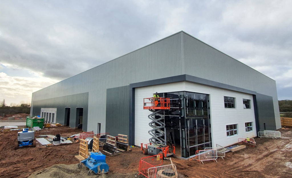Cladding up at St. Modwen's Worcester scheme