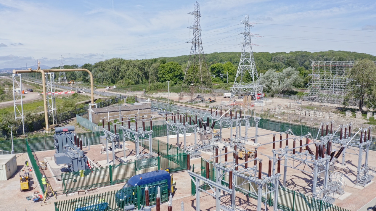 We've got the power: Substation works progress at Glan Llyn, Newport
