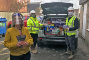 Weston-super-Mare Foodbank receives festive donation from St. Modwen Homes