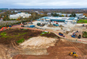 Demolition works underway at Viables Business Park as St. Modwen makes way for new Basingstoke scheme