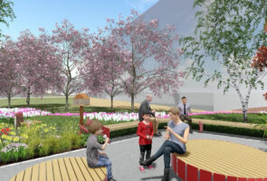 Work begins on enhanced public gateway and new pocket park in Longbridge