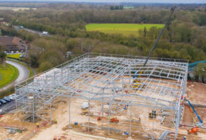 Steelworks commenced on three new units at St. Modwen Park Basingstoke