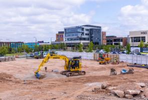 Work begins on new Herbert's Yard events venue in Longbridge town centre
